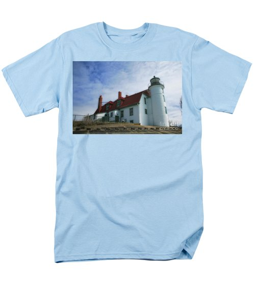 Men's T-Shirt  (Regular Fit) featuring the photograph Michigan Lighthouse by Gina Cormier