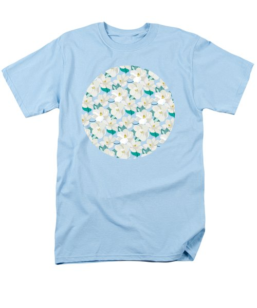 Mint Magnolias Men's T-Shirt  (Regular Fit) by Elizabeth Tuck