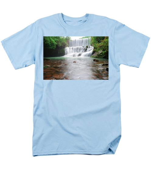 Men's T-Shirt  (Regular Fit) featuring the photograph Mirror Lake Falls 2 by Renee Hardison