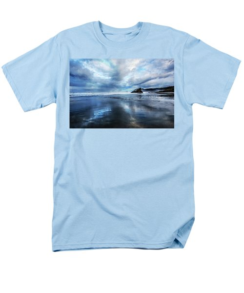 Men's T-Shirt  (Regular Fit) featuring the photograph Mirror Of Light by Debra and Dave Vanderlaan