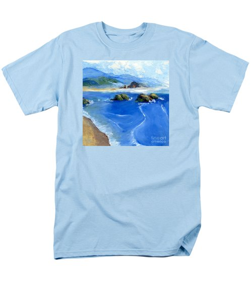 Misty Bodega Bay Men's T-Shirt  (Regular Fit) by Randy Sprout
