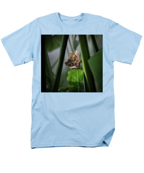 Men's T-Shirt  (Regular Fit) featuring the photograph Misty Morning Owl by Karen Wiles