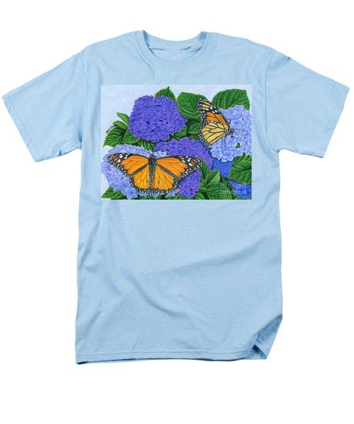Monarch Butterflies And Hydrangeas Men's T-Shirt  (Regular Fit)
