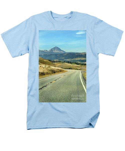 Men's T-Shirt  (Regular Fit) featuring the photograph Montana Road by Jill Battaglia
