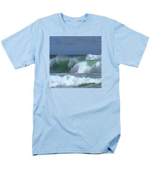 Men's T-Shirt  (Regular Fit) featuring the digital art Monterey Surf by Walter Chamberlain