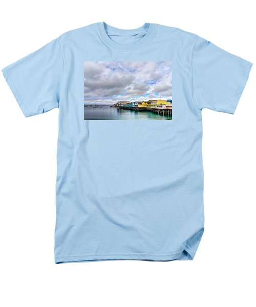Monterey Wharf  Men's T-Shirt  (Regular Fit) by Derek Dean