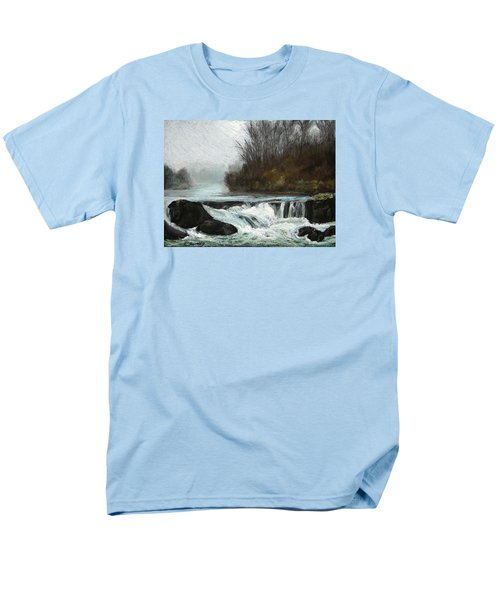 Men's T-Shirt  (Regular Fit) featuring the painting Moonlit Serenity by Marna Edwards Flavell