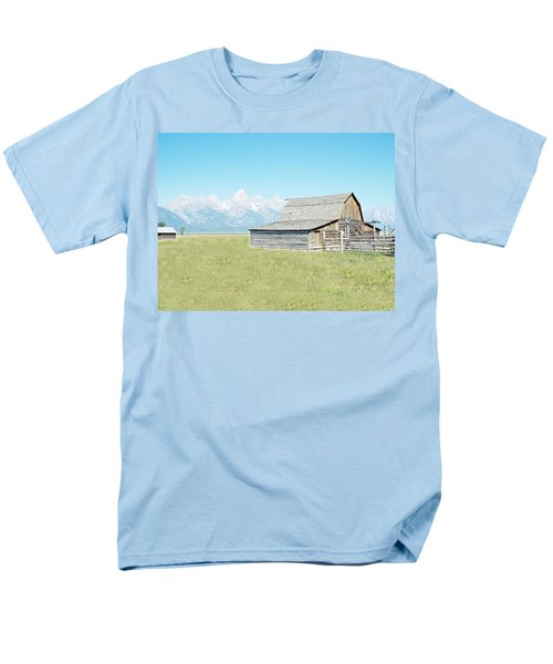 Mormon Row Barn - Grand Tetons Men's T-Shirt  (Regular Fit) by Joseph Hendrix
