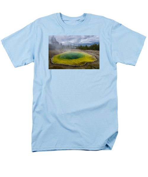 Men's T-Shirt  (Regular Fit) featuring the photograph Morning Glory Pool by Gary Lengyel