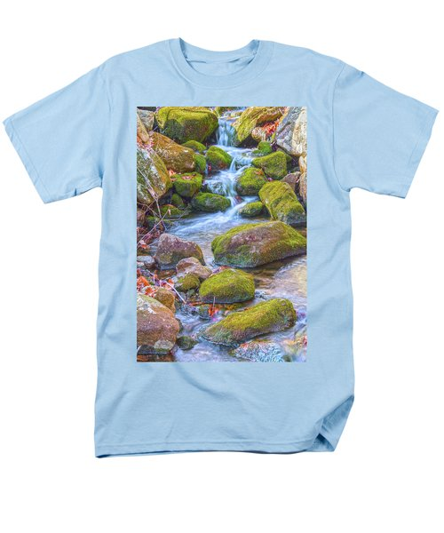 Mossy Stepping Stones Men's T-Shirt  (Regular Fit) by Angelo Marcialis
