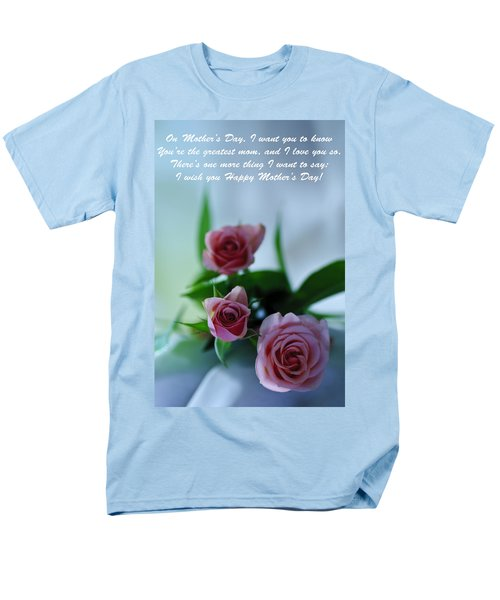 Men's T-Shirt  (Regular Fit) featuring the photograph Mother's Day Card 1 by Michael Cummings