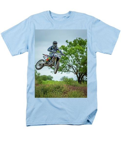 Men's T-Shirt  (Regular Fit) featuring the photograph Motocross Aerial by David Morefield