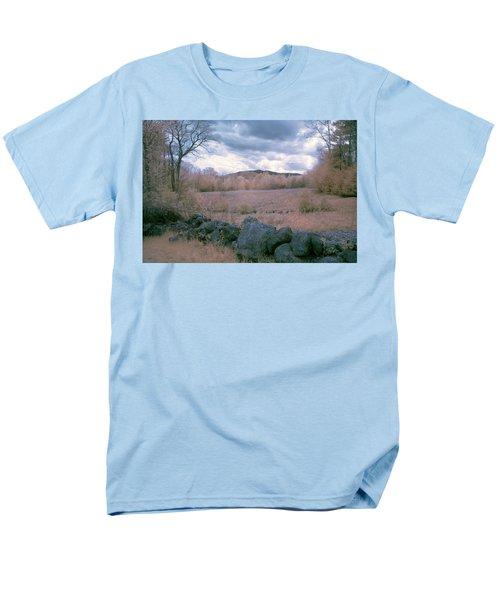 Mount Monadnock In Infrared Men's T-Shirt  (Regular Fit) by Tom Singleton