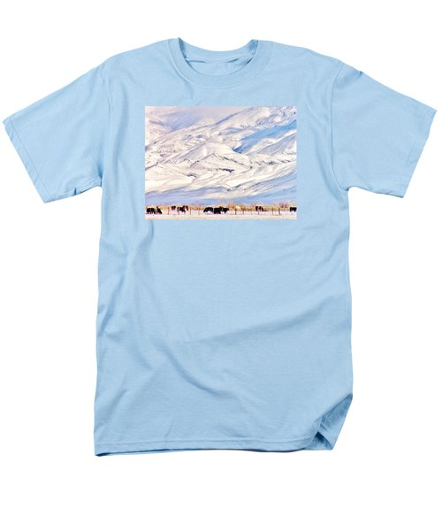Mountain Snow Men's T-Shirt  (Regular Fit) by Marilyn Diaz