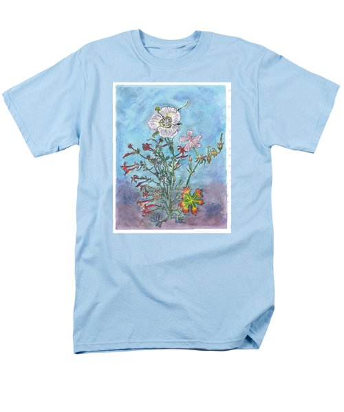 Men's T-Shirt  (Regular Fit) featuring the painting Mountain Wildflowers II by Dawn Senior-Trask