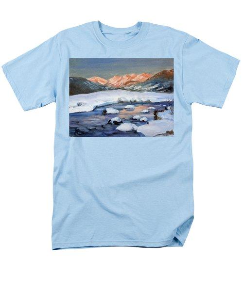 Mountain Winter Landscape 1 Men's T-Shirt  (Regular Fit)
