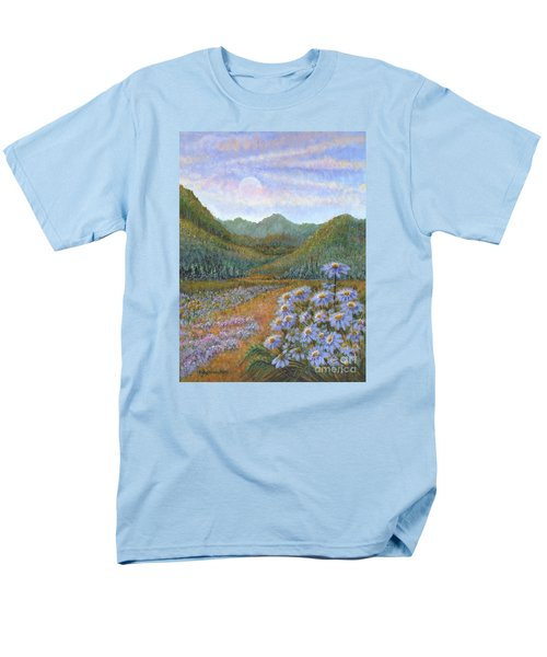 Mountains And Asters Men's T-Shirt  (Regular Fit)