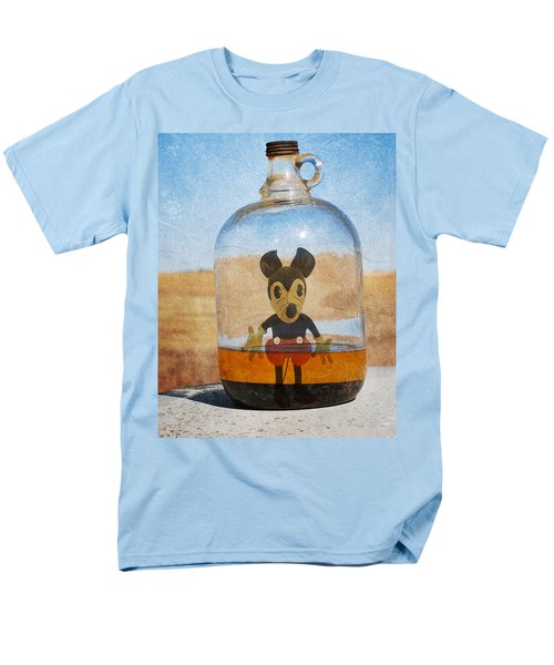 Mouse In A Bottle  Men's T-Shirt  (Regular Fit) by Jerry Cordeiro