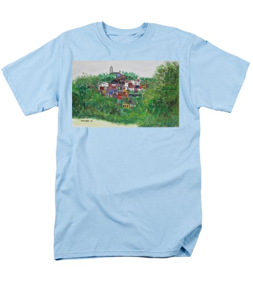 Men's T-Shirt  (Regular Fit) featuring the painting Mt. Adams  Cincinnati Ohio by Diane Pape