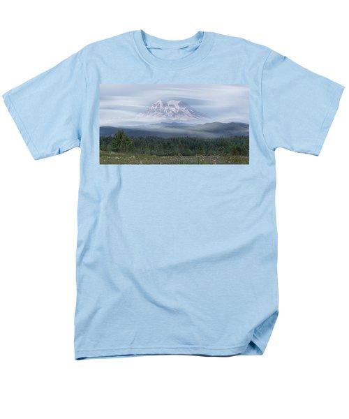 Mt. Rainier Men's T-Shirt  (Regular Fit) by Patti Deters