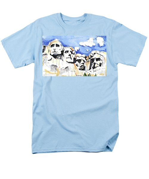 Men's T-Shirt  (Regular Fit) featuring the painting Mt. Rushmore, Usa by Terry Banderas