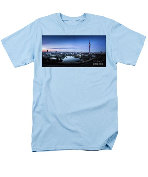 Men's T-Shirt  (Regular Fit) featuring the photograph Munich - Watching The Sunset At The Olympiapark by Hannes Cmarits