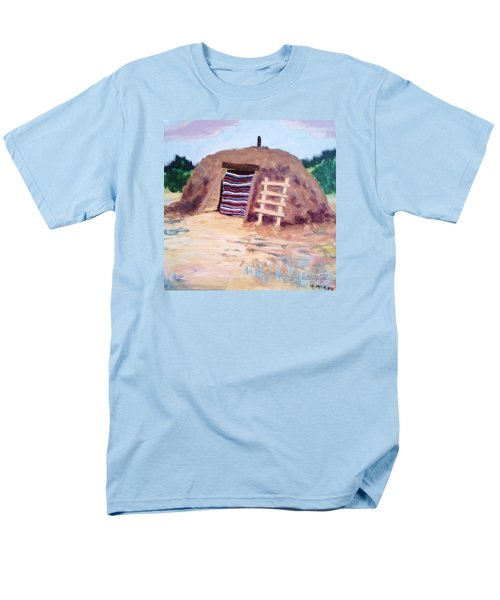 Men's T-Shirt  (Regular Fit) featuring the painting Navajo Hogan by Suzanne McKay