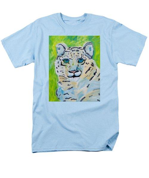 Eyes On You Snow Leopard Men's T-Shirt  (Regular Fit) by Meryl Goudey