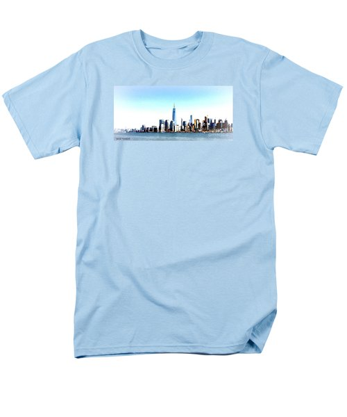 Men's T-Shirt  (Regular Fit) featuring the painting New York City Skyline by Denise Tomasura