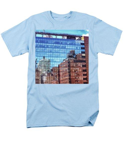 New York City Skyscraper Art 4 Men's T-Shirt  (Regular Fit) by Judi Saunders