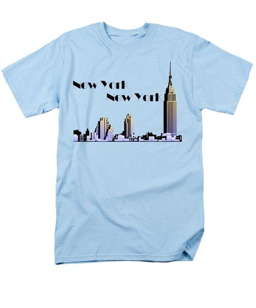 New York New York Skyline Retro 1930s Style Men's T-Shirt  (Regular Fit) by Heidi De Leeuw