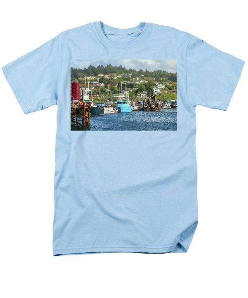 Men's T-Shirt  (Regular Fit) featuring the digital art Newport Harbor by James Eddy