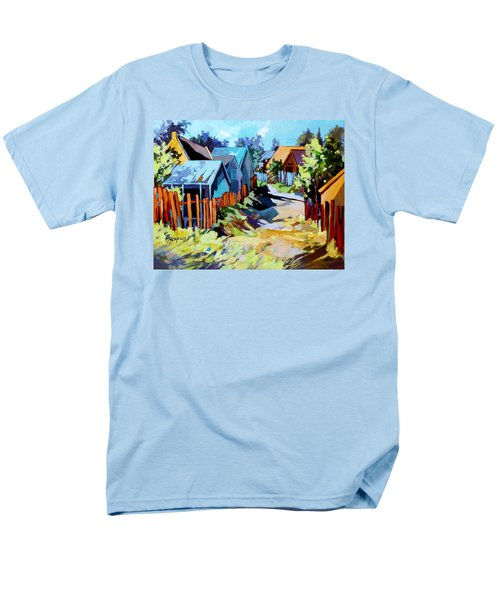 Men's T-Shirt  (Regular Fit) featuring the painting No Through Road by Rae Andrews