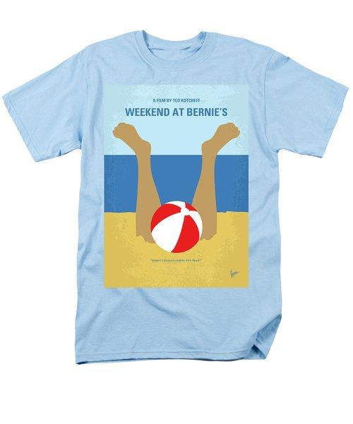 Men's T-Shirt  (Regular Fit) featuring the digital art No765 My Weekend At Bernies Minimal Movie Poster by Chungkong Art