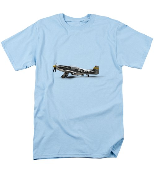 North American P-51 Mustang Men's T-Shirt  (Regular Fit) by Douglas Pittman