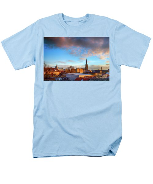 Novi Sad Roofs Lit By The Setting Sun Men's T-Shirt  (Regular Fit) by Jivko Nakev