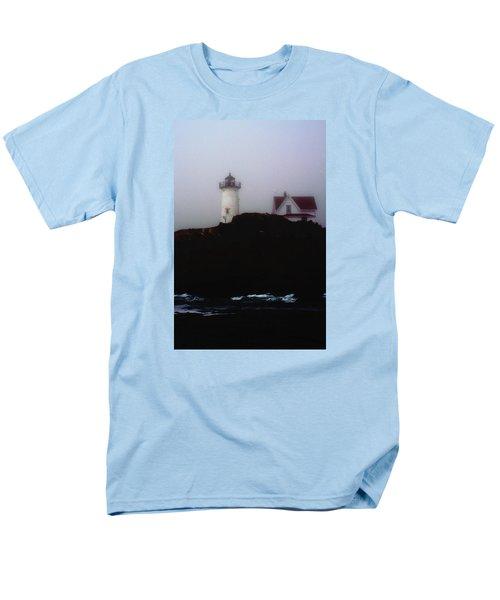 Men's T-Shirt  (Regular Fit) featuring the photograph Nubble Light House by Richard Ortolano