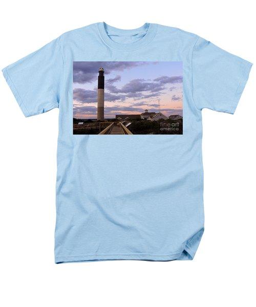 Men's T-Shirt  (Regular Fit) featuring the photograph Oak Island Lighthouse by Shelia Kempf