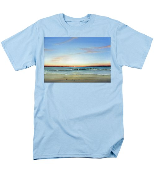 Men's T-Shirt  (Regular Fit) featuring the painting Obx Sunrise by Albert Puskaric