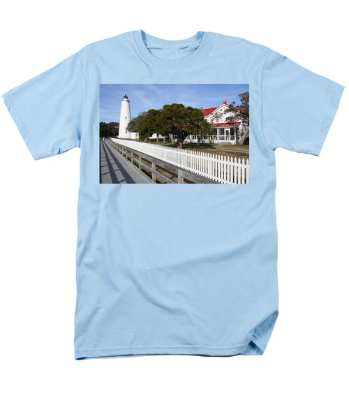 Ocracoke Lighthouse Men's T-Shirt  (Regular Fit) by Tony Cooper