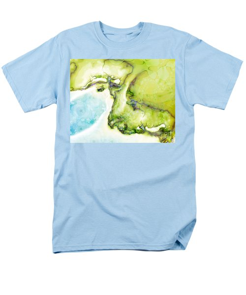 Men's T-Shirt  (Regular Fit) featuring the digital art Of Earth And Water by Michelle H