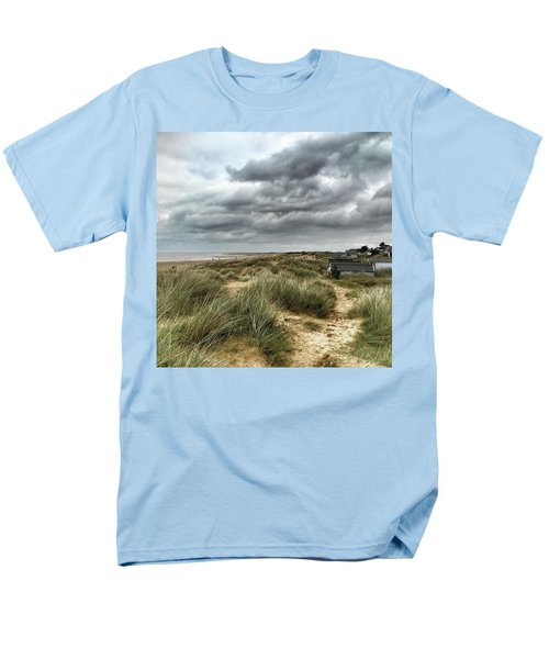 Old Hunstanton Beach, North #norfolk Men's T-Shirt  (Regular Fit) by John Edwards