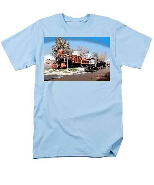 Old Pioneer Train Western Village Las Vegas Men's T-Shirt  (Regular Fit) by Wernher Krutein