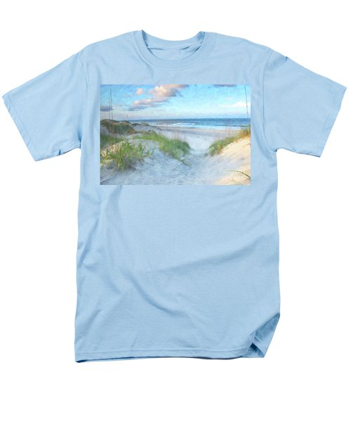 On The Beach Watercolor Men's T-Shirt  (Regular Fit) by Randy Steele