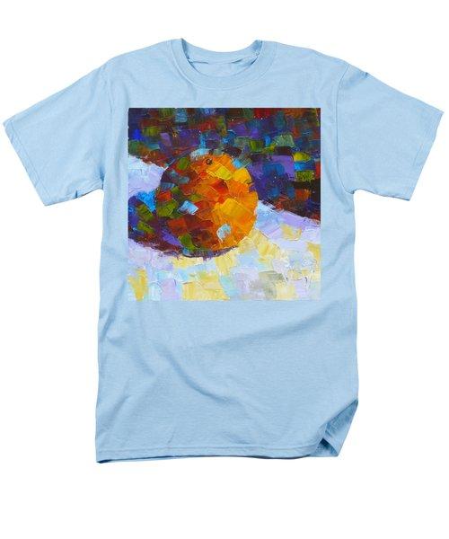Orange Mosaic #3 Men's T-Shirt  (Regular Fit) by Susan Woodward