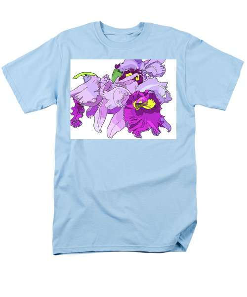 Orchid Cluster Men's T-Shirt  (Regular Fit) by Jamie Downs