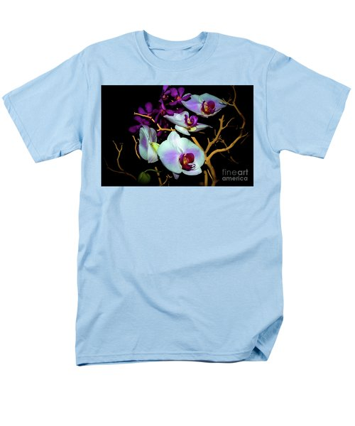 Men's T-Shirt  (Regular Fit) featuring the photograph Orchids In Water Color by Diana Mary Sharpton