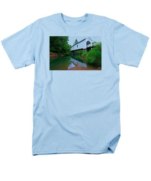 Oregon Covered Bridge Men's T-Shirt  (Regular Fit) by Sean Sarsfield