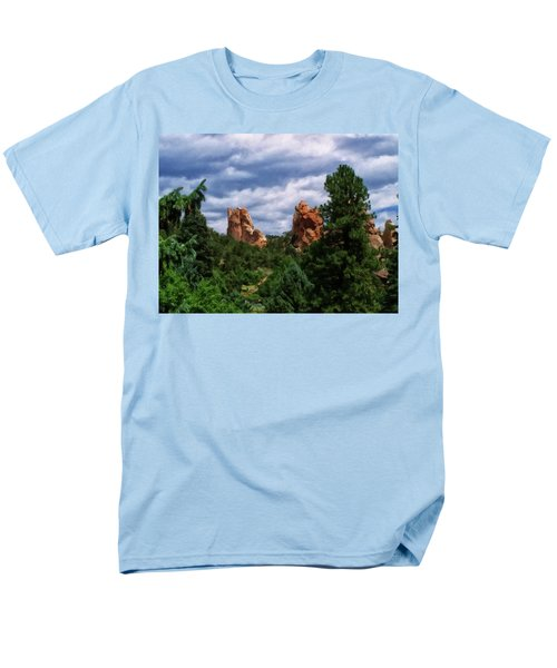 Men's T-Shirt  (Regular Fit) featuring the digital art outcroppings in Colorado Springs by Chris Flees