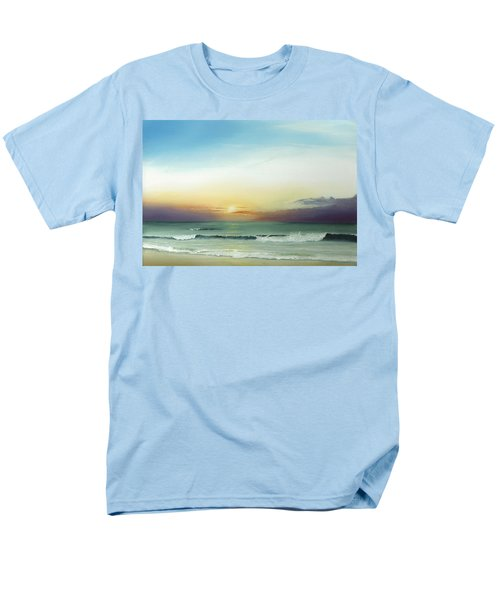 Men's T-Shirt  (Regular Fit) featuring the painting East Coast Sunrise by Albert Puskaric